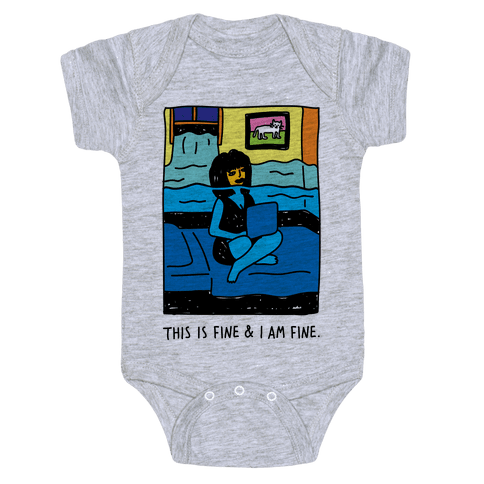This Is Fine & I Am Fine Baby Onesy