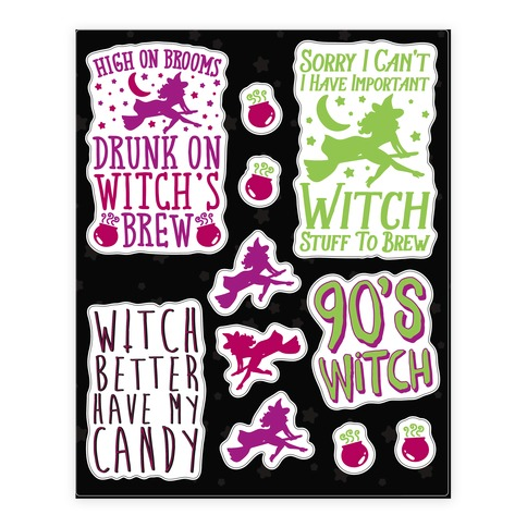 Sassy Witch  Sticker/Decal Sheet