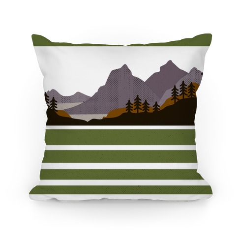 Mountain Landscape Pillow