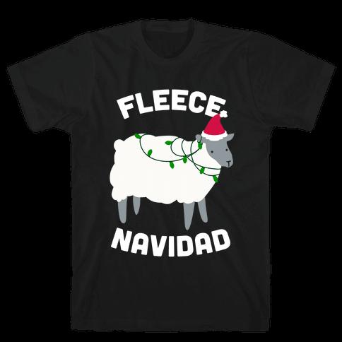 Fleece Navidad Mens T-Shirt