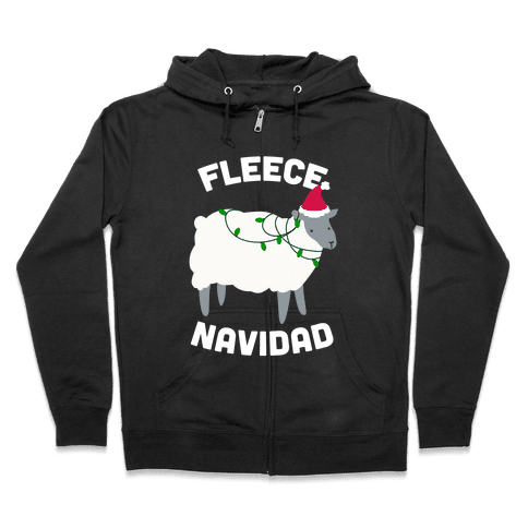 Fleece Navidad Zip Hoodie