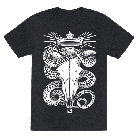 Crowned Serpent Goat Skull