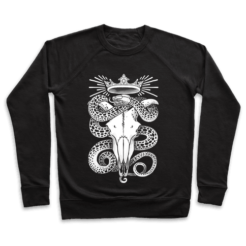 Crowned Serpent Goat Skull Pullover