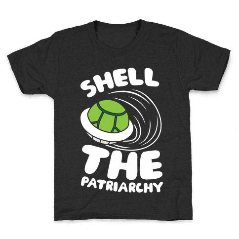 Green Shell The Patriarchy Kids T-Shirt