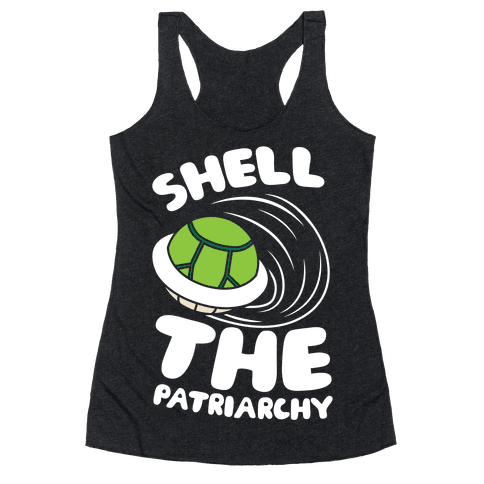 Green Shell The Patriarchy Racerback Tank Top