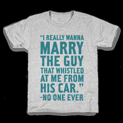Wanna Marry The Guy Kids T-Shirt