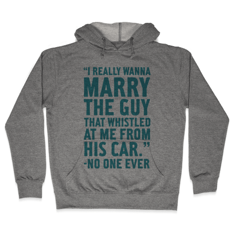 Wanna Marry The Guy Hooded Sweatshirt