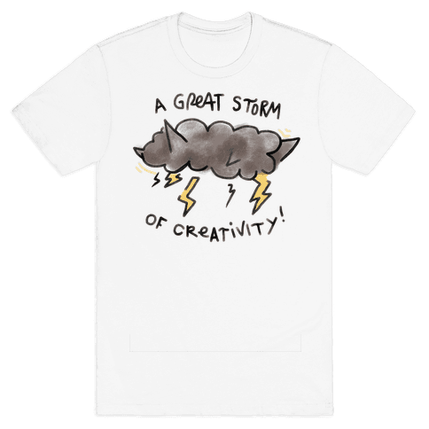 A Great Storm Of Creativity Mens T-Shirt
