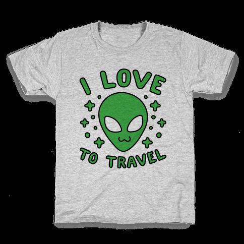 I Love To Travel Kids T-Shirt
