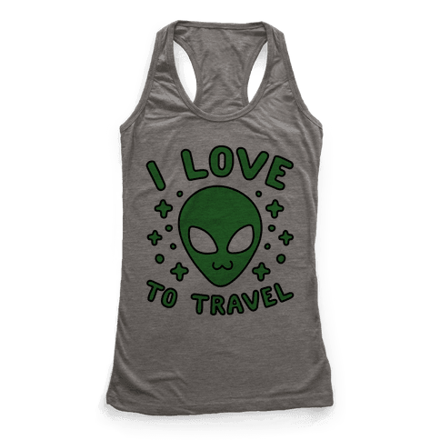 I Love To Travel Racerback Tank Top