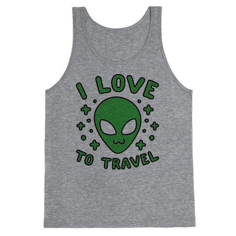 I Love To Travel Tank Top
