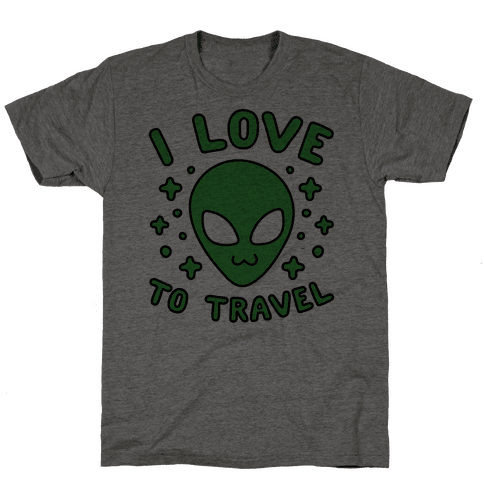 I Love To Travel Mens T-Shirt
