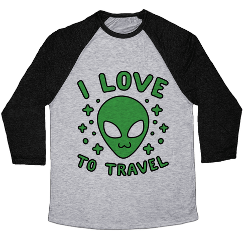 I Love To Travel Baseball Tee