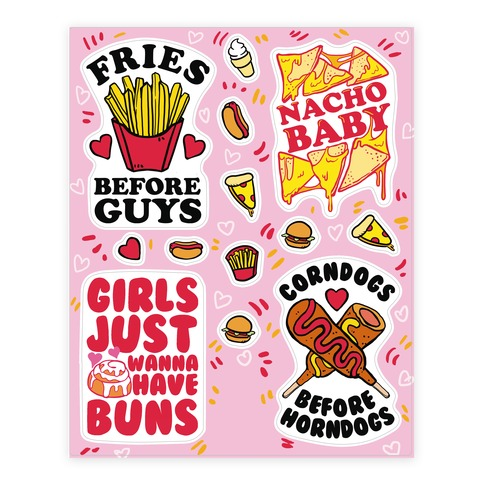 Feminist Food  Sticker/Decal Sheet