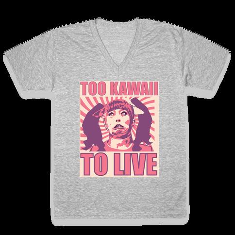 Too Kawaii V-Neck Tee Shirt