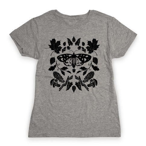 Woodland Moth Womens T-Shirt