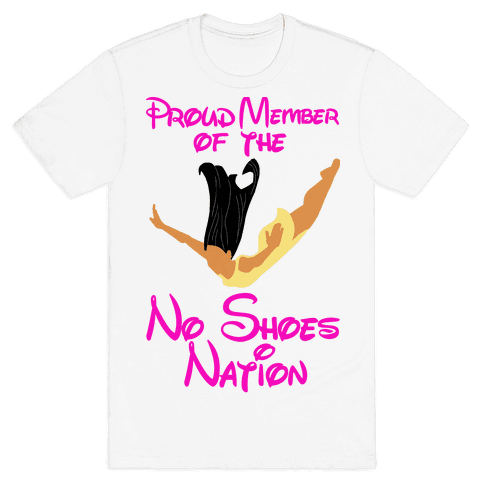 Proud Member of The No Shoes Nation (Pocahontas) Mens T-Shirt