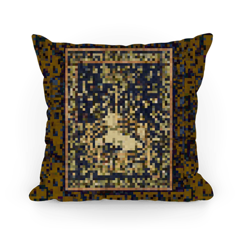 Pixel Unicorn Tapestry Pillow