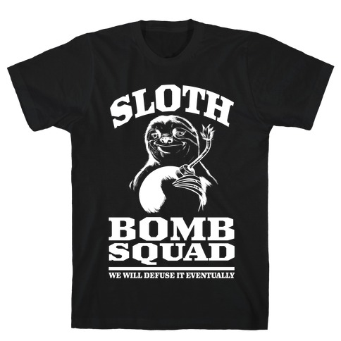 Sloth Bomb Squad Mens T-Shirt