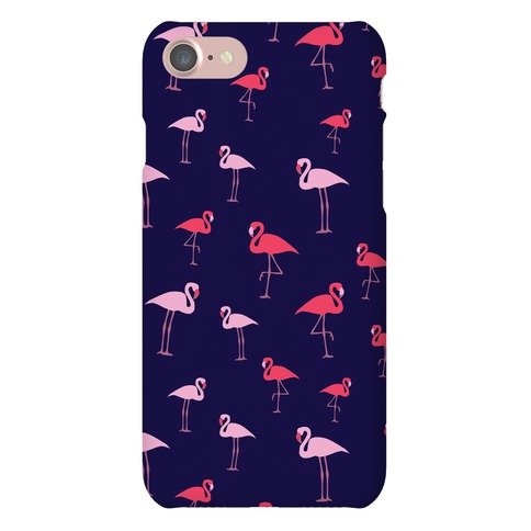 Flamingo Pattern (Navy) Phone Case