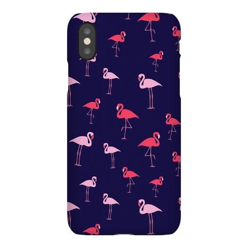Flamingo Pattern (Navy) Phone Case