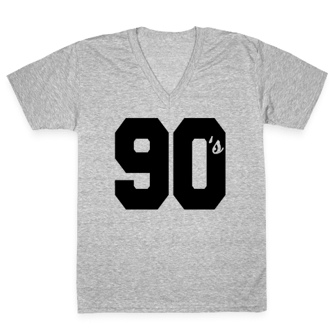 90's Varsity V-Neck Tee Shirt