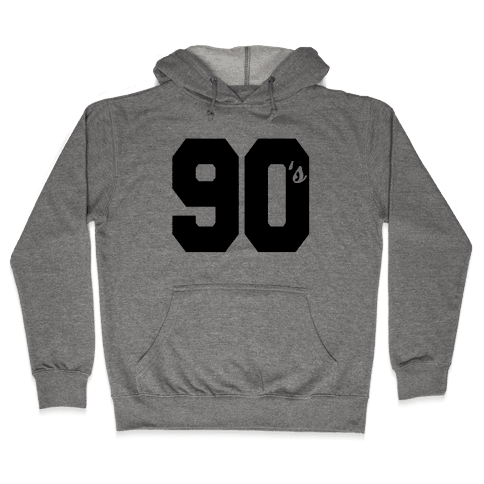90's Varsity Hooded Sweatshirt