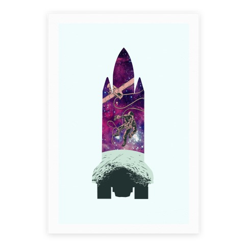 Galactic Space Vignette Poster