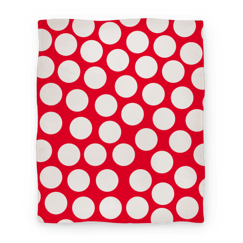 Red Polka Dot Blanket Blanket