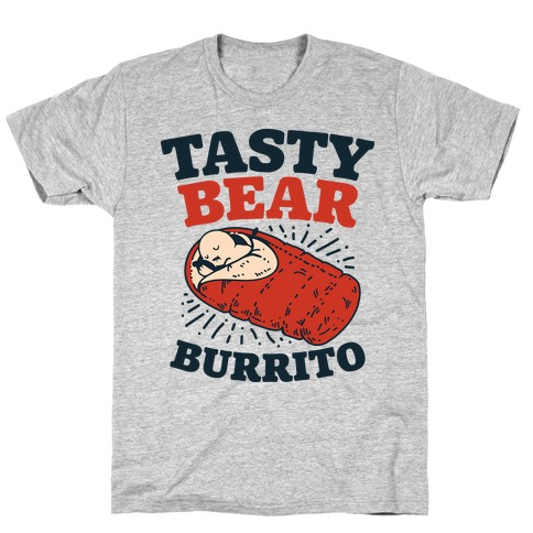 Tasty Bear Burrito Mens T-Shirt