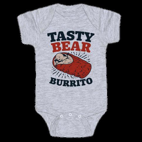 Tasty Bear Burrito Baby Onesy