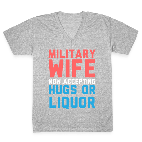 Hugs or Liquor V-Neck Tee Shirt