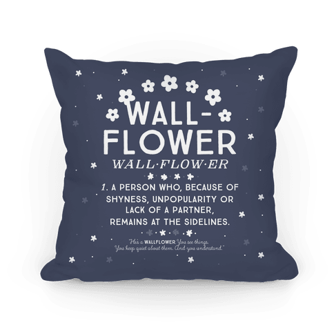 Definition of a Wallflower Pillow