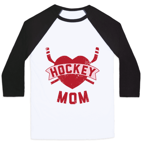 Hockey Mom Baseball Tee