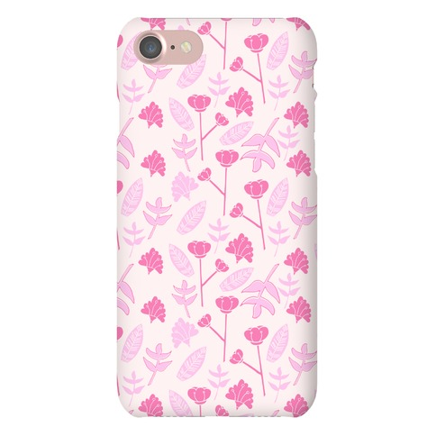 Floral Pattern (Pink) Phone Case