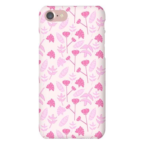 Floral Pattern (Pink) Phone Case