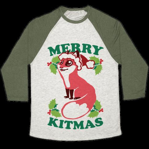 Merry Kitmas Baseball Tee
