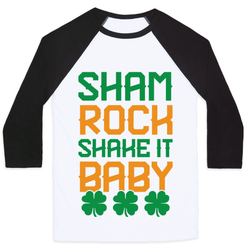 Shamrock Shake It Baby Baseball Tee