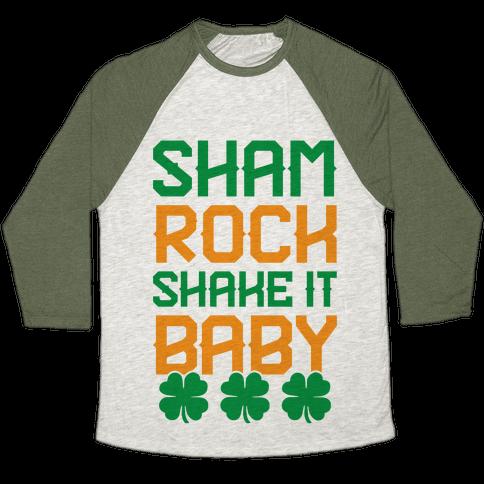 Shamrock Shake It Baby Baseball Tee