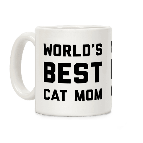World's Best Cat Mom Coffee Mug