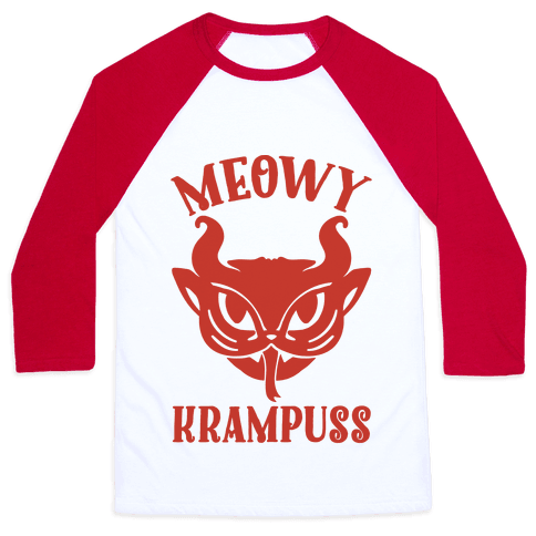 Meowy Krampuss Baseball Tee