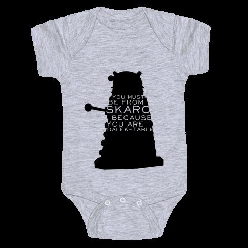 Doctor Who Pick Up (Dalek) Baby Onesy