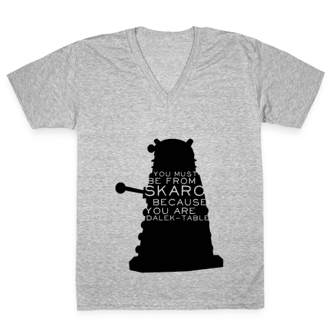 Doctor Who Pick Up (Dalek) V-Neck Tee Shirt