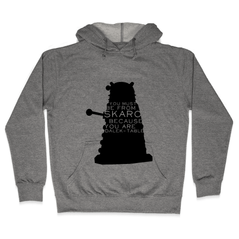 Doctor Who Pick Up (Dalek) Hooded Sweatshirt