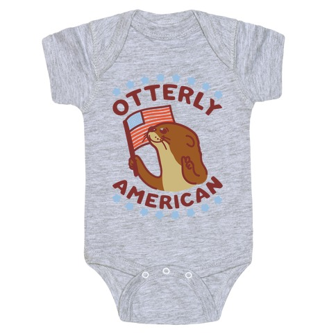Otterly American Baby Onesy