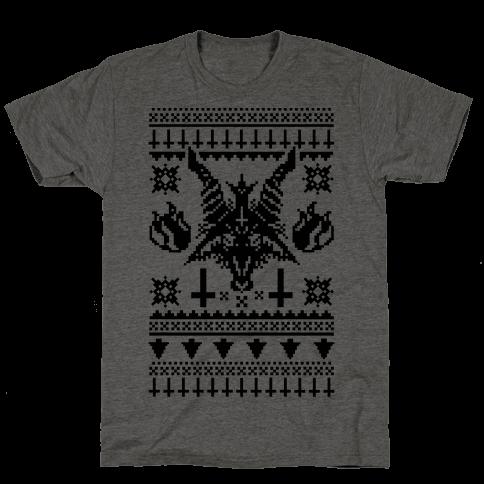 Baphomet Ugly Christmas Sweater