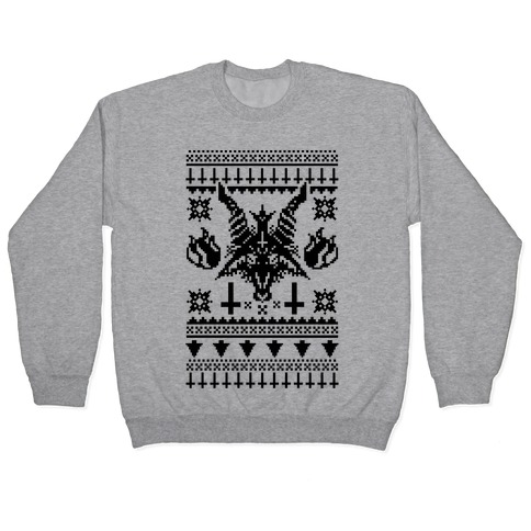Baphomet Ugly Christmas Sweater Pullover