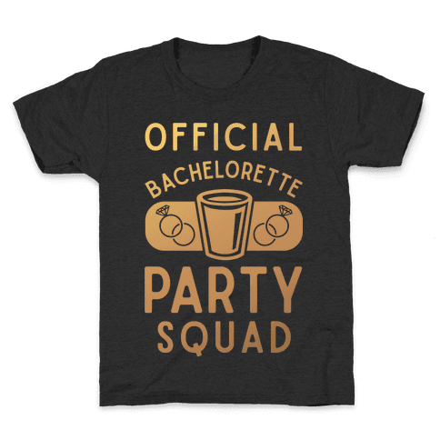 Official Bachelorette Party Squad Kids T-Shirt