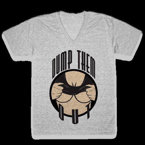 Dump Them Out V-Neck Tee Shirt