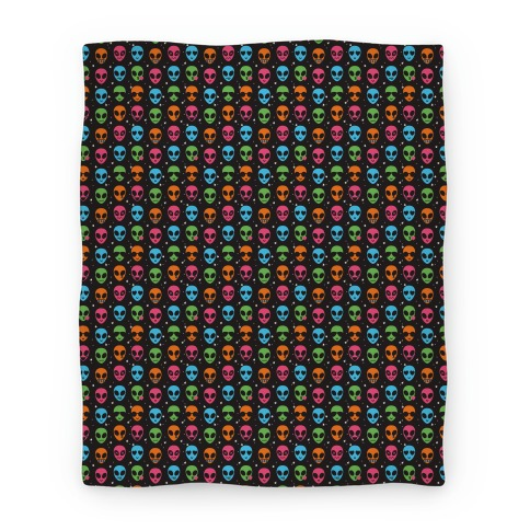 Alien Emoji Pattern Blanket